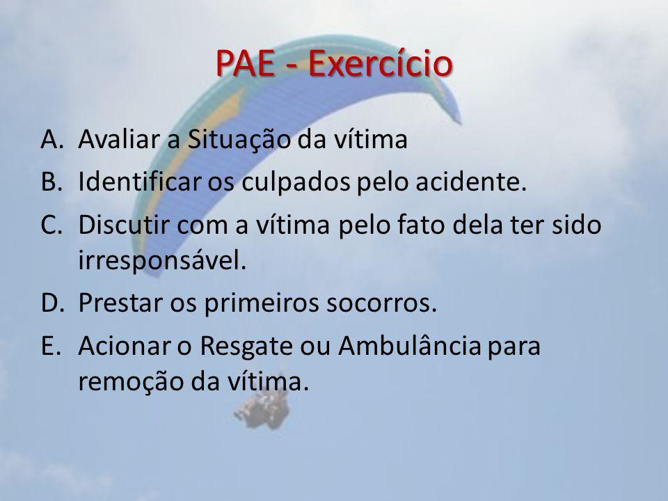 PAE - Exercício Avaliar a Situação da vítima