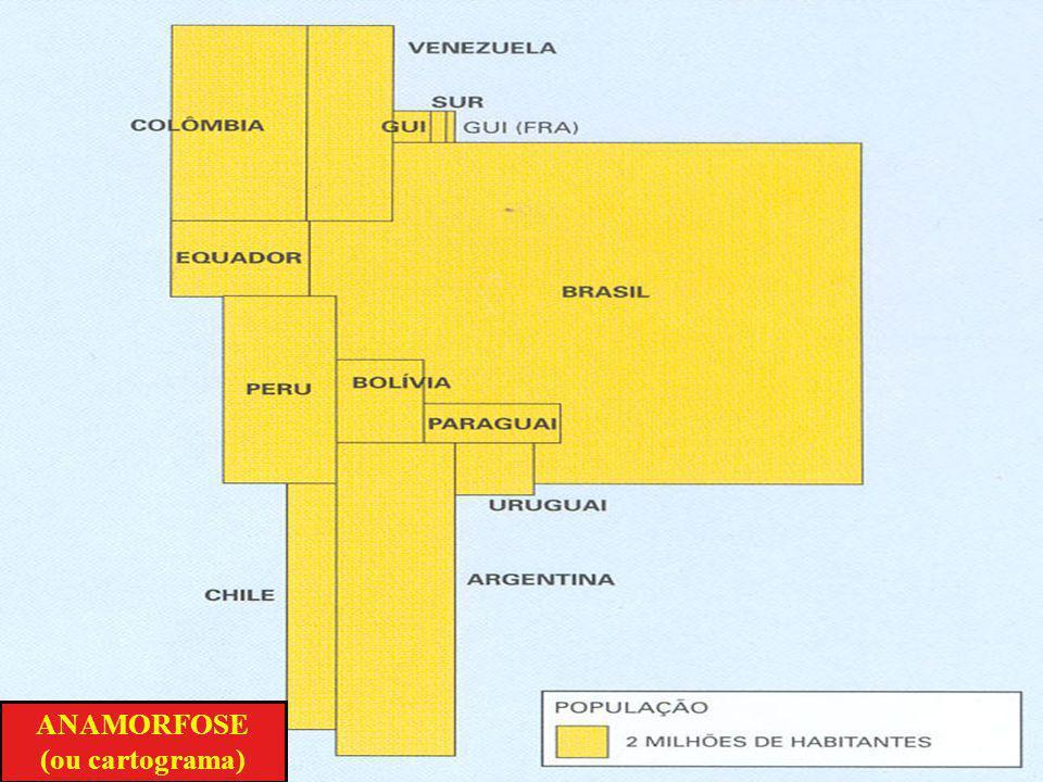 ANAMORFOSE (ou cartograma)