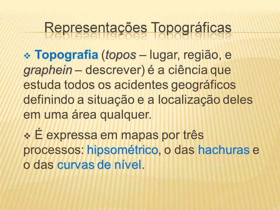 Topografia (topos – lugar, região, e graphein – descrever) é a ciência que estuda todos os acidentes geográficos definindo a situação e a localização deles em uma área qualquer.