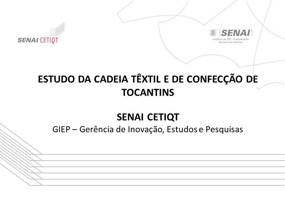 ESTUDO DA CADEIA TÊXTIL E DE CONFECÇÃO DE