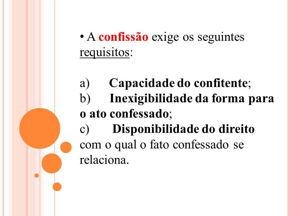 A confissão exige os seguintes requisitos: