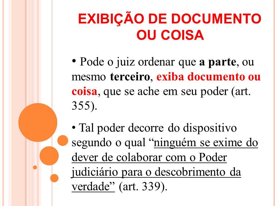 EXIBIÇÃO DE DOCUMENTO OU COISA
