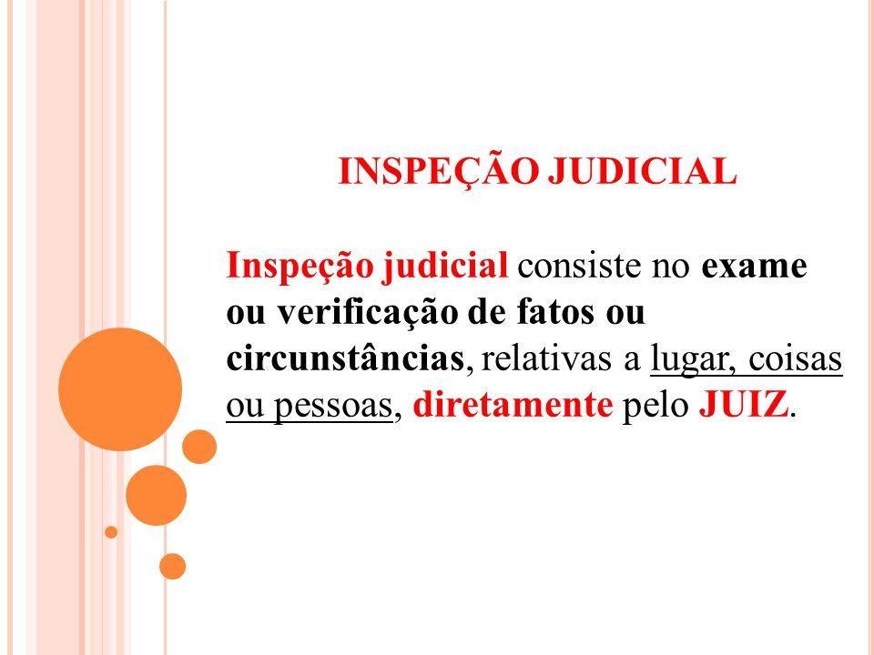 INSPEÇÃO JUDICIAL