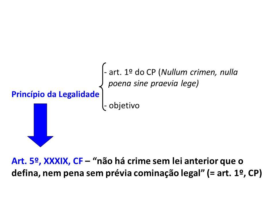 - art. 1º do CP (Nullum crimen, nulla