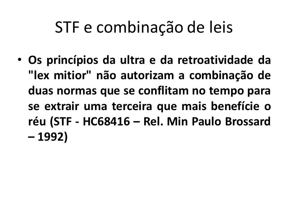 STF e combinação de leis