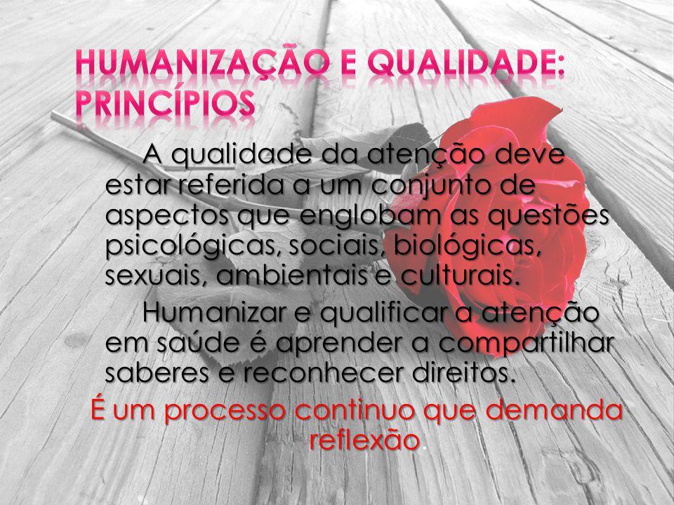 Humanização e Qualidade: Princípios