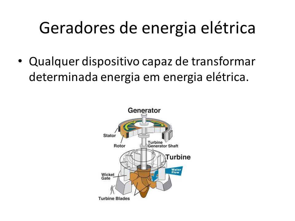 Geradores de energia elétrica
