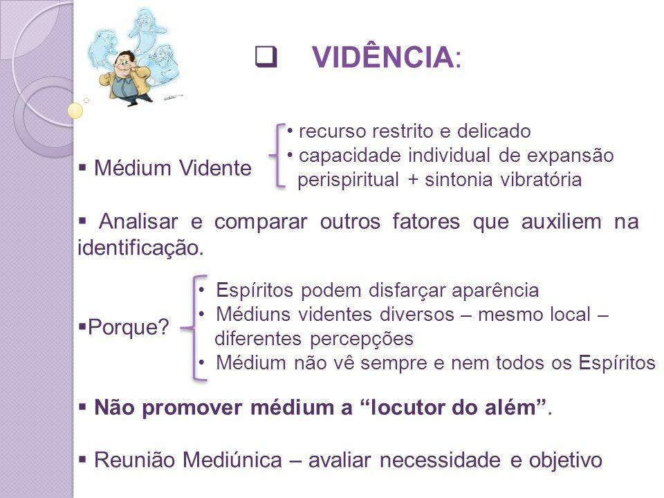 VIDÊNCIA: Médium Vidente