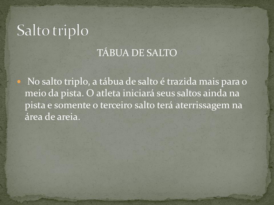 Salto triplo TÁBUA DE SALTO
