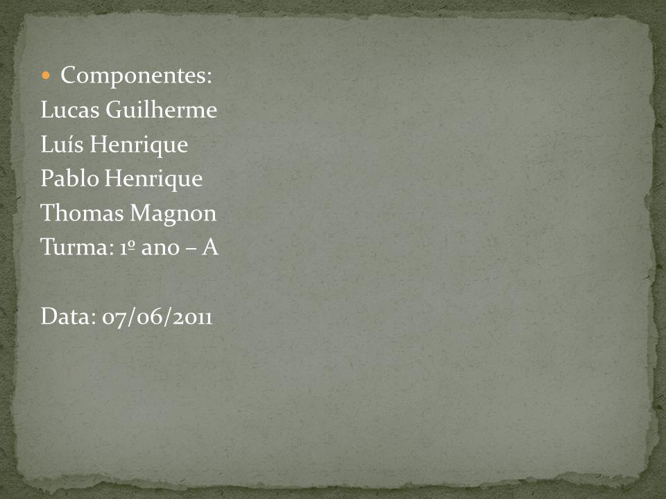 Componentes: Lucas Guilherme. Luís Henrique. Pablo Henrique.