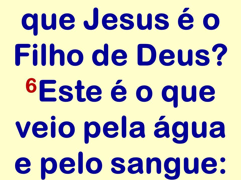 que Jesus é o Filho de Deus