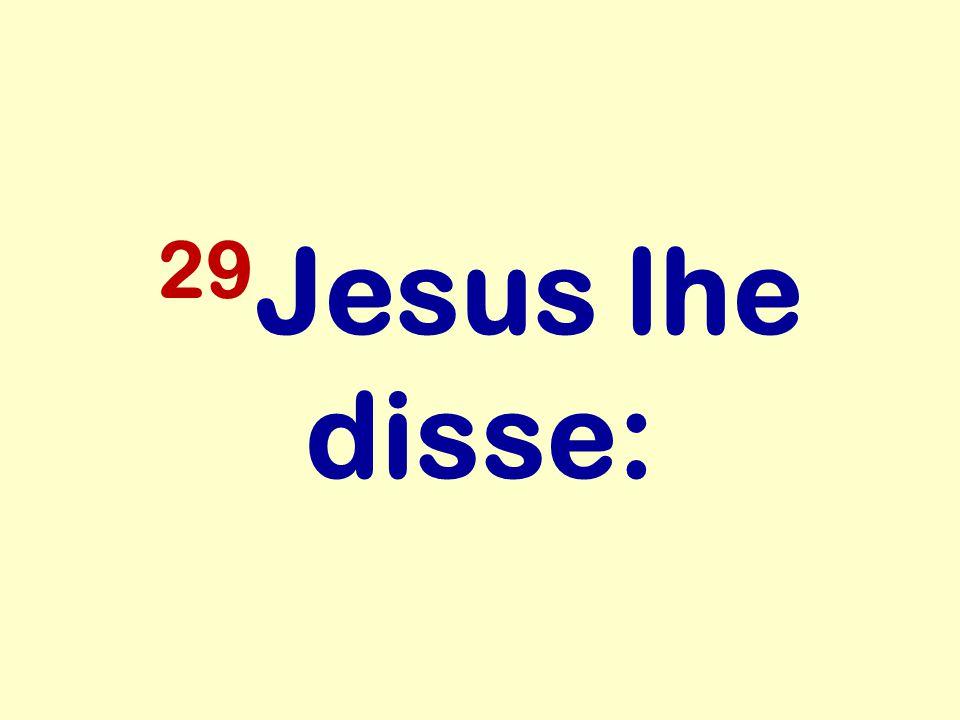 29Jesus lhe disse: