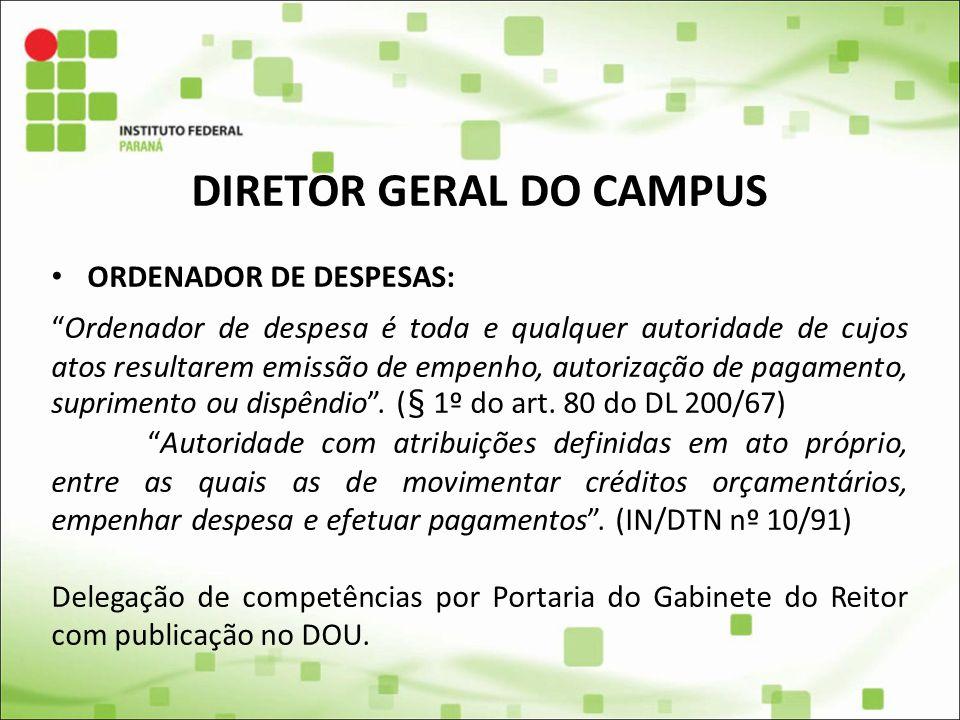 DIRETOR GERAL DO CAMPUS