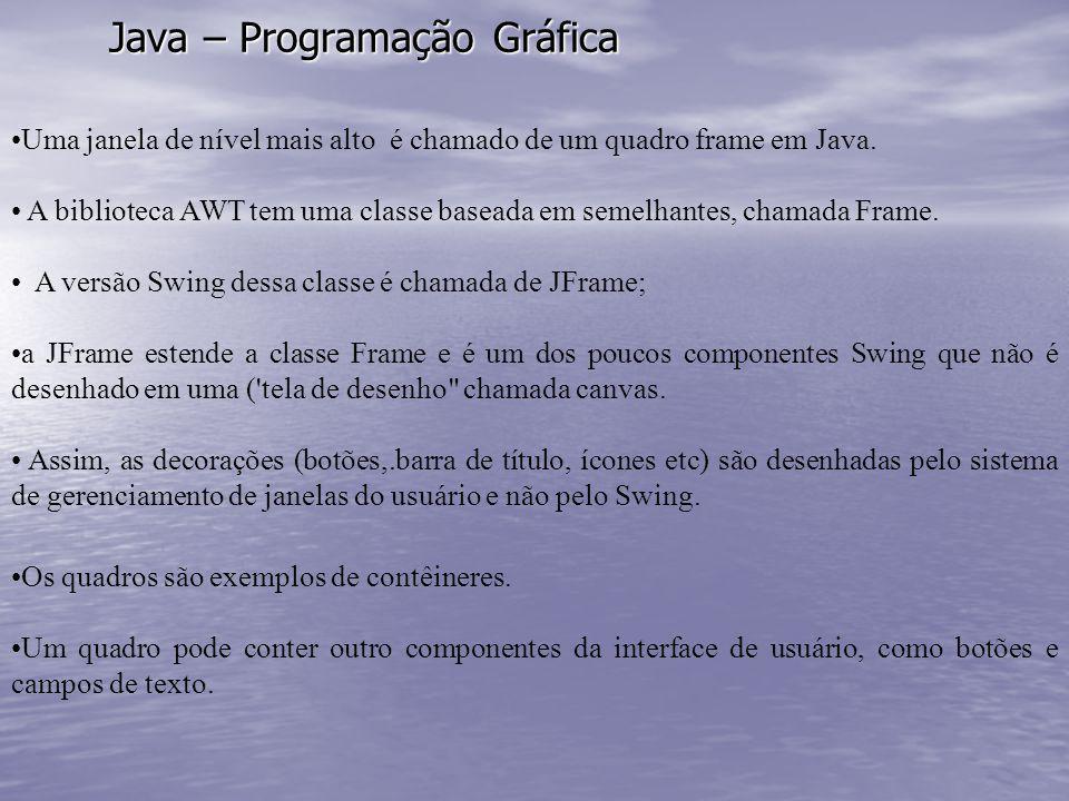 Java – Programação Gráfica