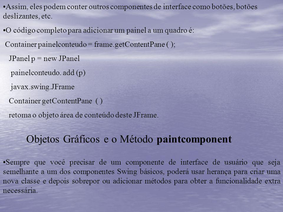 Objetos Gráficos e o Método paintcomponent