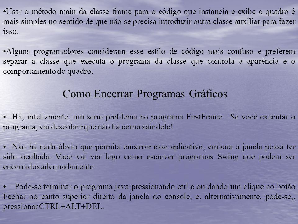 Como Encerrar Programas Gráficos