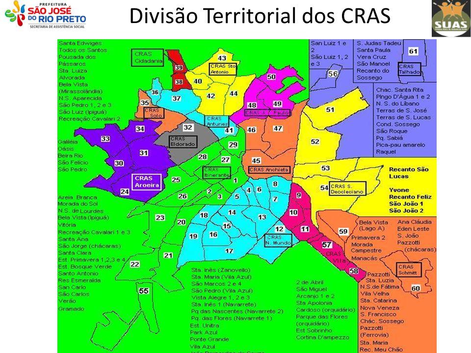 Divisão Territorial dos CRAS