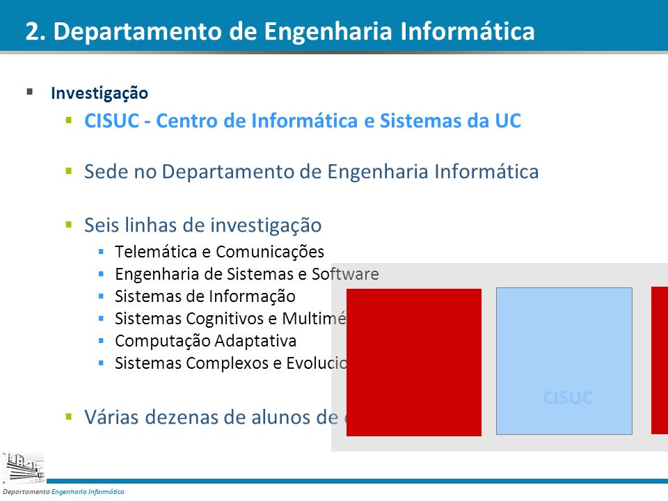 2. Departamento de Engenharia Informática