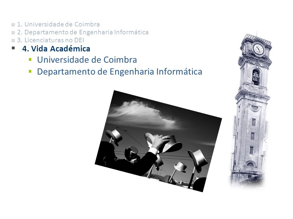 Universidade de Coimbra Departamento de Engenharia Informática