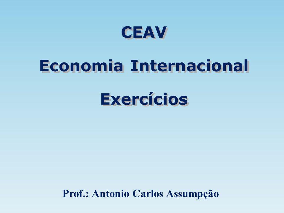CEAV Economia Internacional Exercícios