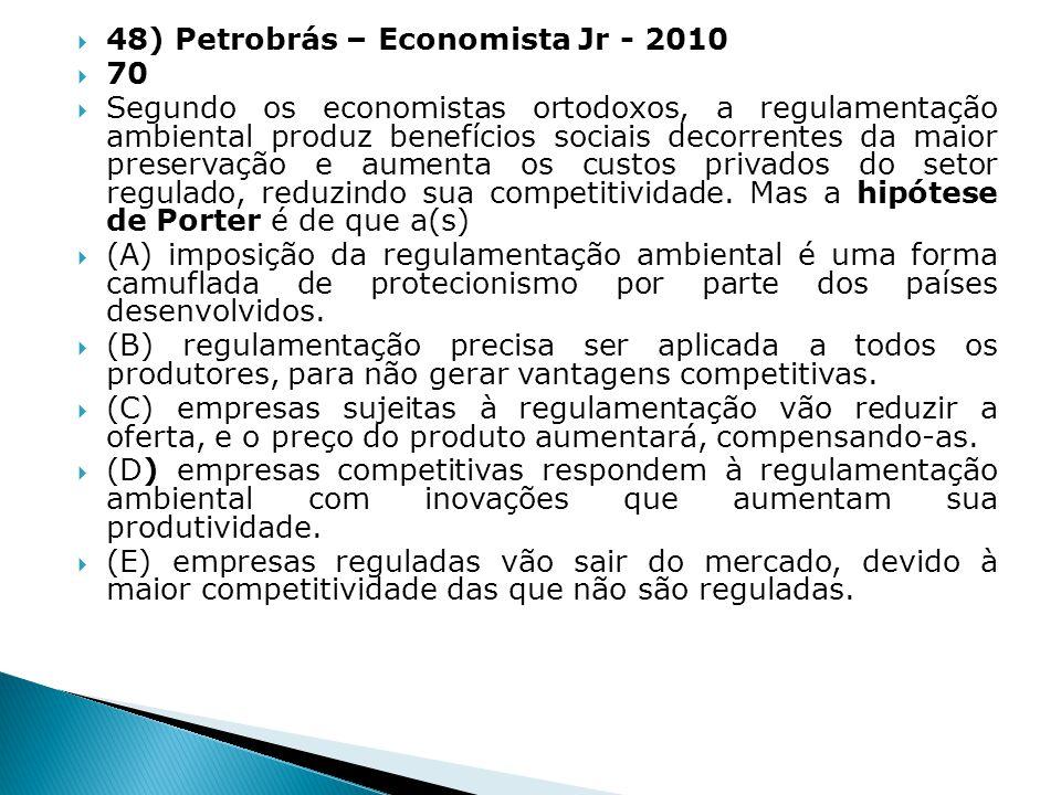 48) Petrobrás – Economista Jr - 2010