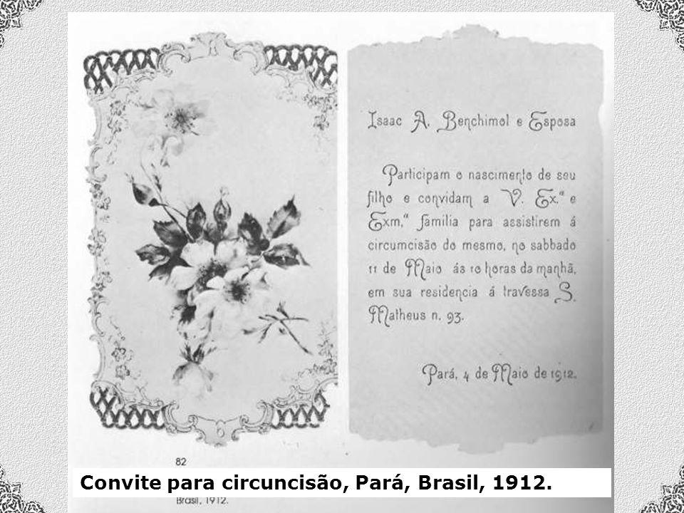 Convite para circuncisão, Pará, Brasil, 1912.