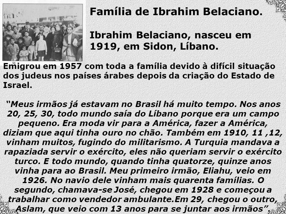 Família de Ibrahim Belaciano.