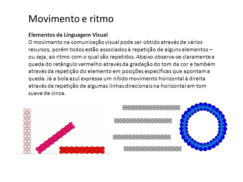 Movimento e ritmo Elementos da Linguagem Visual
