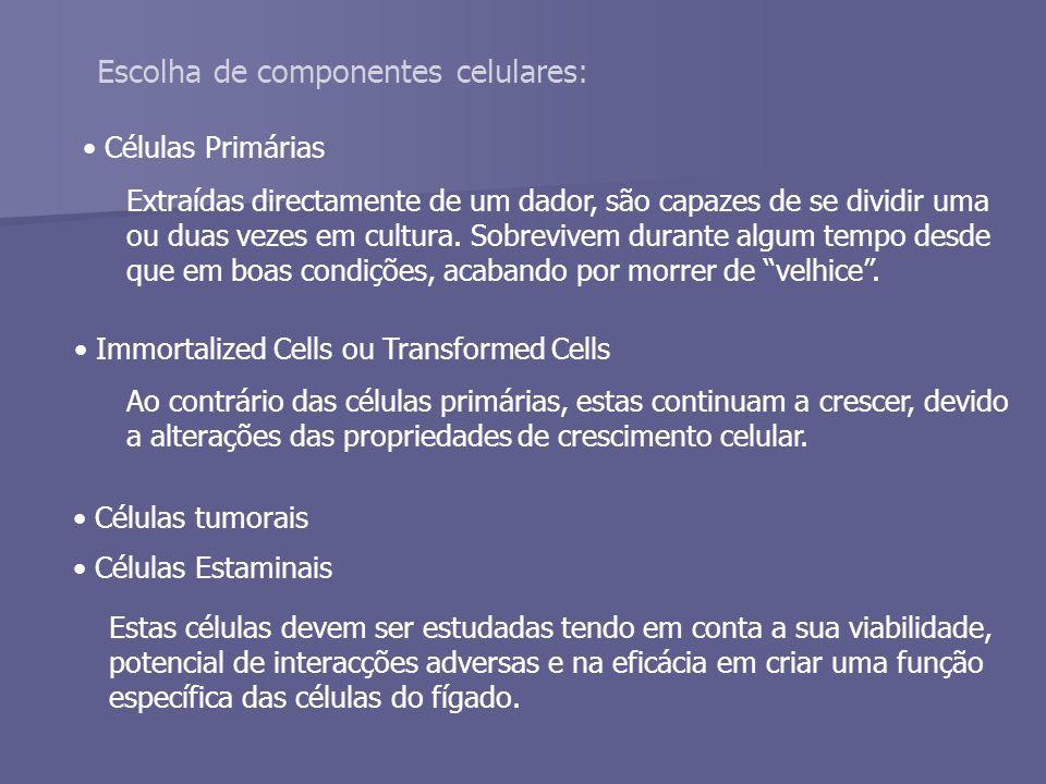 Escolha de componentes celulares: