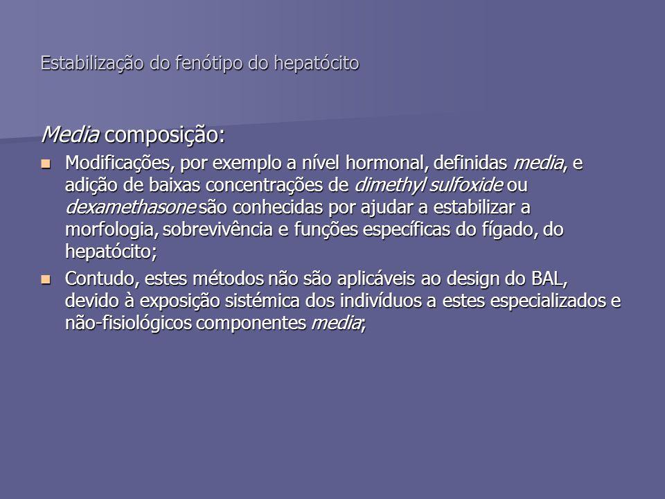 Estabilização do fenótipo do hepatócito