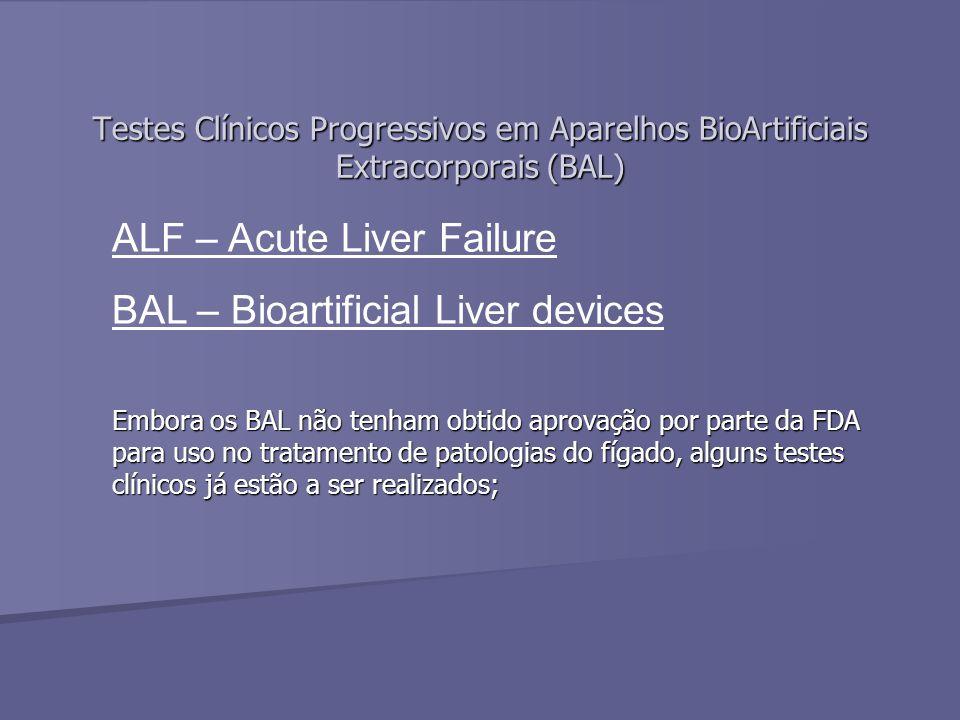 ALF – Acute Liver Failure BAL – Bioartificial Liver devices