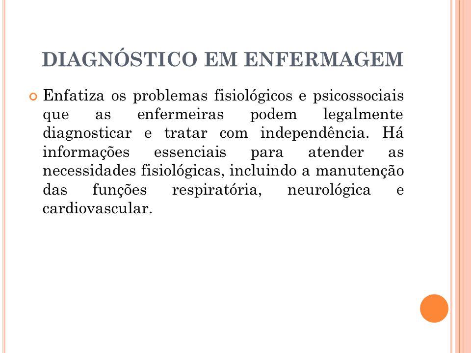DIAGNÓSTICO EM ENFERMAGEM