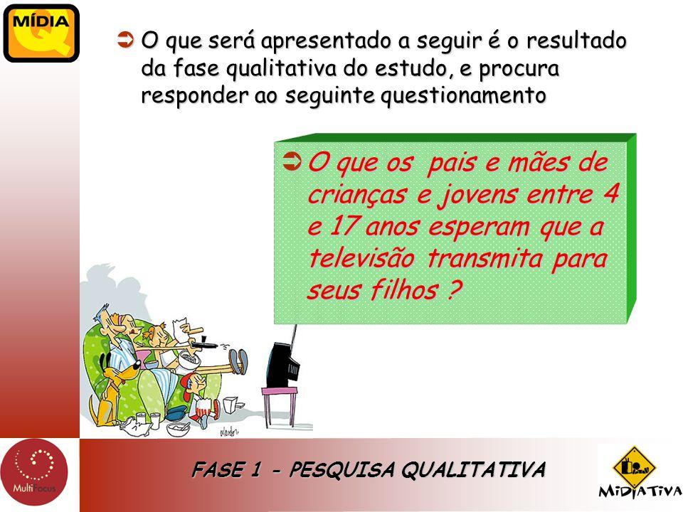 FASE 1 - PESQUISA QUALITATIVA