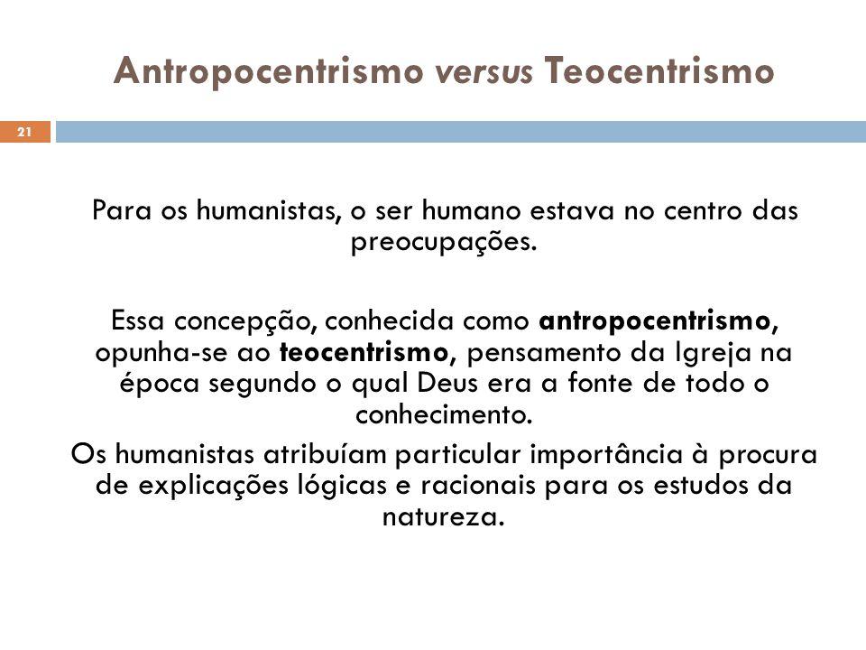 Antropocentrismo versus Teocentrismo