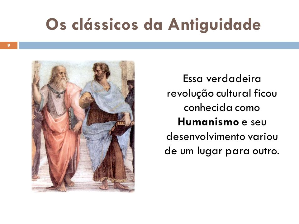 Os clássicos da Antiguidade