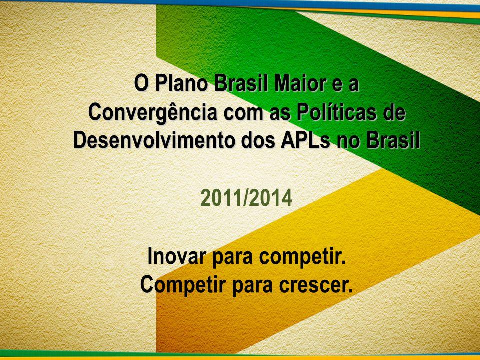 O Plano Brasil Maior e a Convergência com as Políticas de Desenvolvimento dos APLs no Brasil 2011/2014 Inovar para competir.