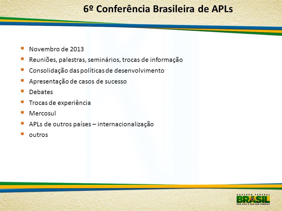 6º Conferência Brasileira de APLs