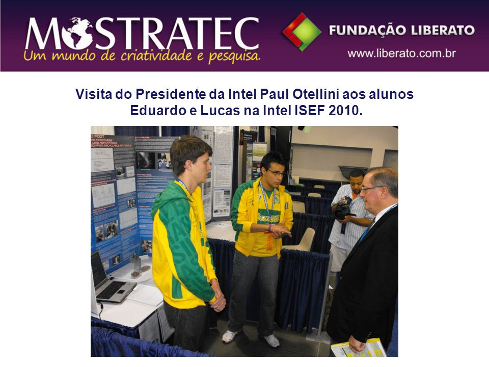 Visita do Presidente da Intel Paul Otellini aos alunos