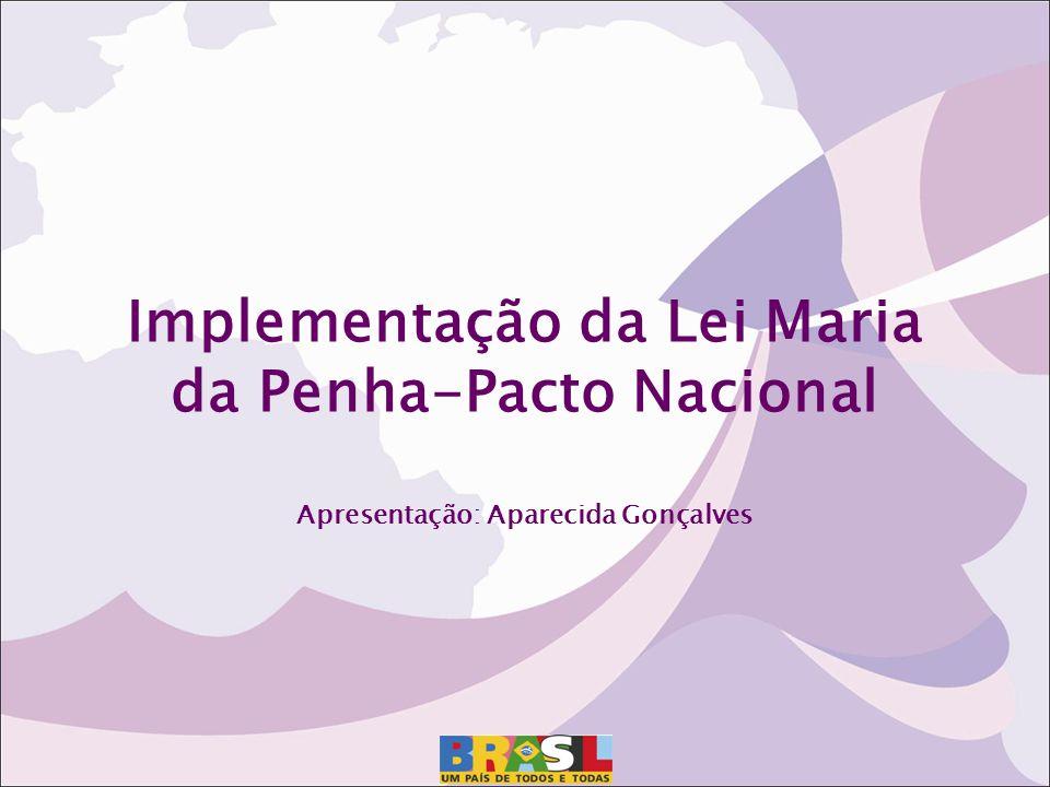 Implementação da Lei Maria da Penha-Pacto Nacional