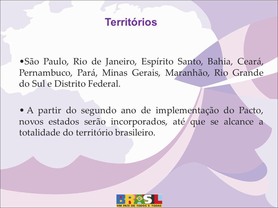 Territórios São Paulo, Rio de Janeiro, Espírito Santo, Bahia, Ceará, Pernambuco, Pará, Minas Gerais, Maranhão, Rio Grande do Sul e Distrito Federal.
