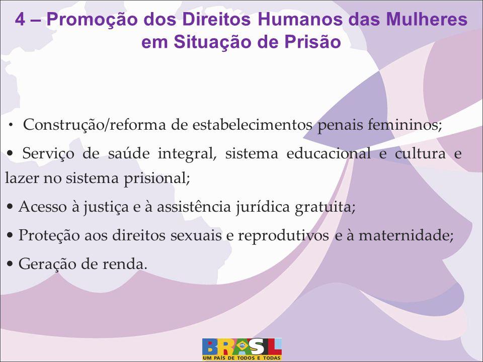 4 – Promoção dos Direitos Humanos das Mulheres em Situação de Prisão