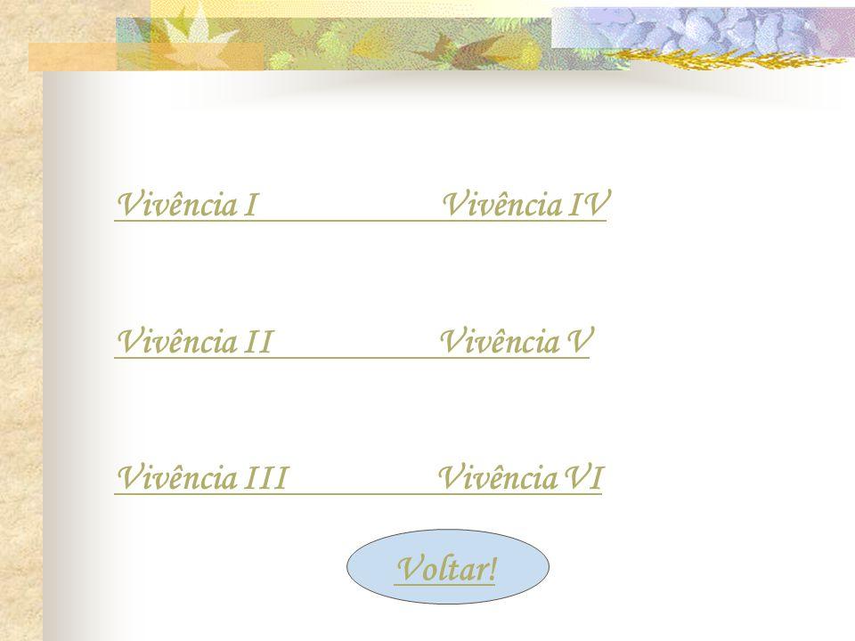 Vivência I Vivência IV Vivência II Vivência V. Vivência III Vivência VI.