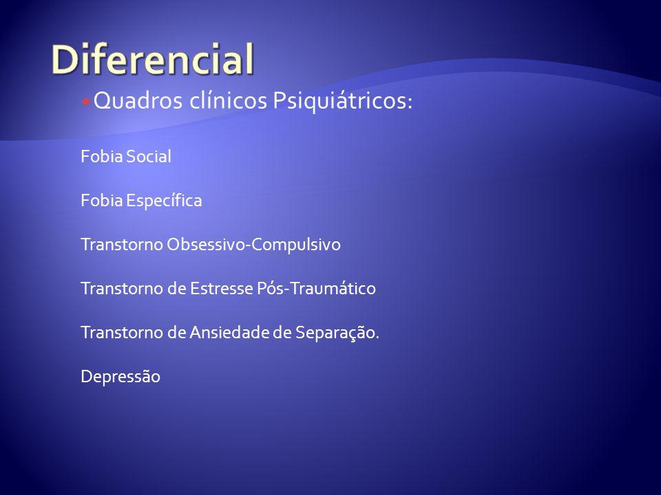 Diferencial Quadros clínicos Psiquiátricos: Fobia Social