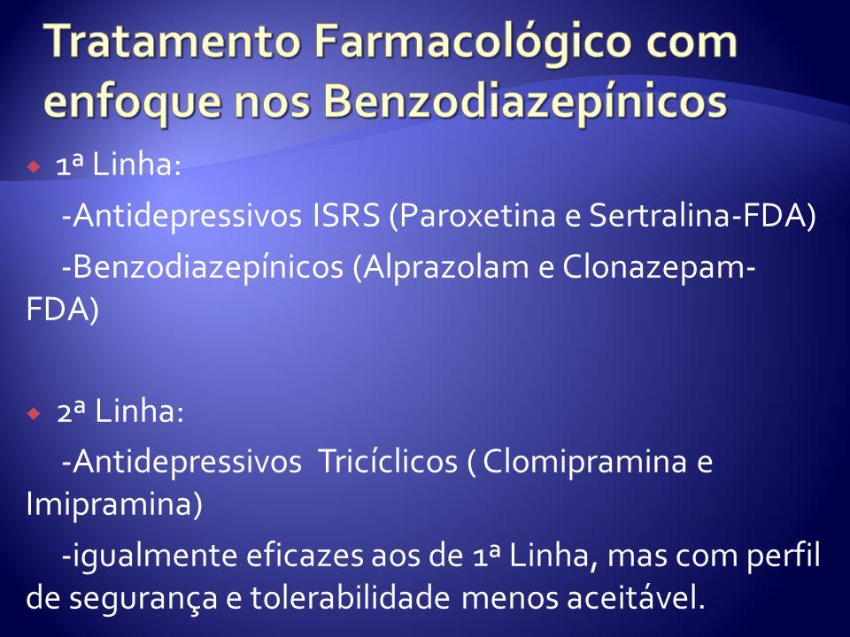 Tratamento Farmacológico com enfoque nos Benzodiazepínicos