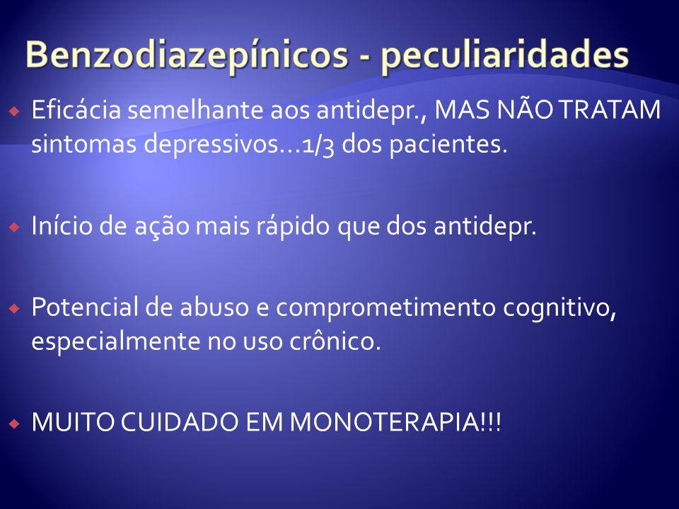 Benzodiazepínicos - peculiaridades