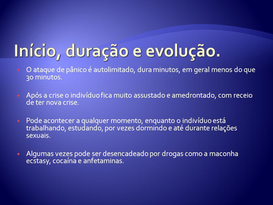 Início, duração e evolução.