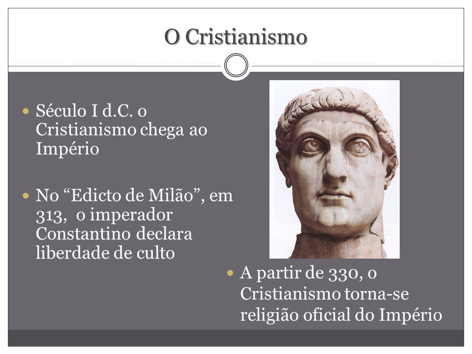 O Cristianismo Século I d.C. o Cristianismo chega ao Império