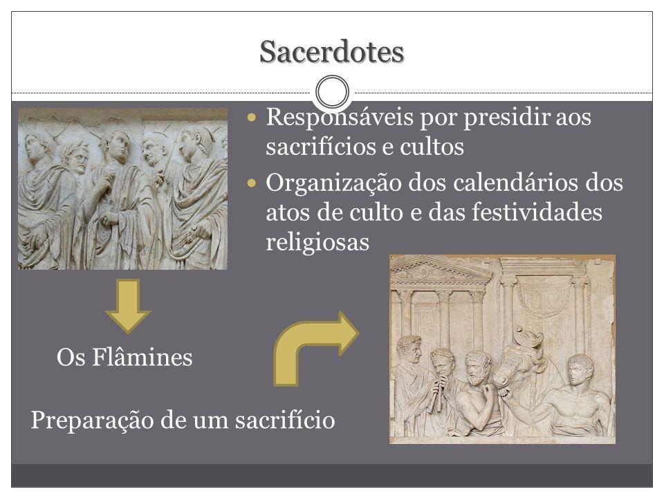 Sacerdotes Responsáveis por presidir aos sacrifícios e cultos