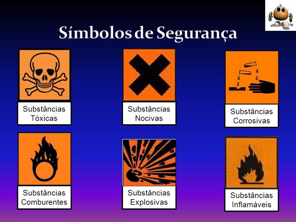 Símbolos de Segurança Substâncias Tóxicas Substâncias Nocivas