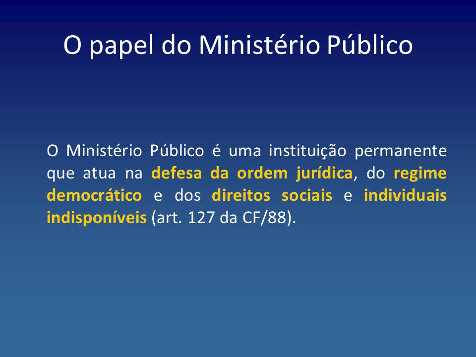 O papel do Ministério Público
